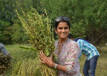 Manisha Lath Gupta in the Field