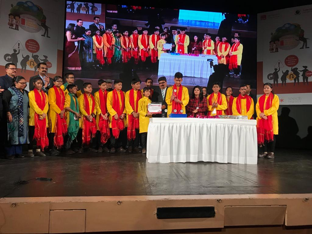 National Level Winners of the Toyota Safety Education Programe held at New Delhi