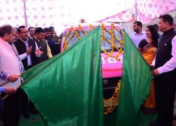 At Indri Panchayat Village, Union Minister inaugurating the programme. occasion, Joint Secretary (Steel) Puneet Kanshal, Nuh's District Collector Pankaj Kumar, Nandita Bakshi, JSPL Jt MD NA Ansari, Group Head (CSR & Sustainability) Prashant Kumar Hota, Puspa Satapathy were present on the occasion.