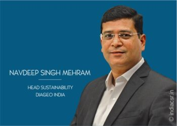 Navdeep Singh Mehram, Head Sustainability – Diageo India