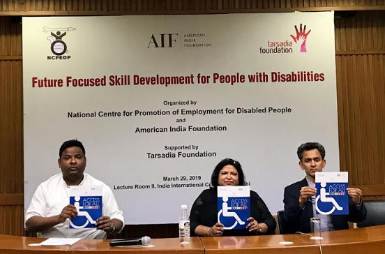 Arman Ali, NCPEDP, Anjlee Agarwal, Samarthyam, Hanumant Rawat, AIF (Right to Left)
