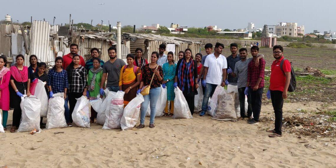 Hinduja Global Solutions employees volunteer for cleaning lakes