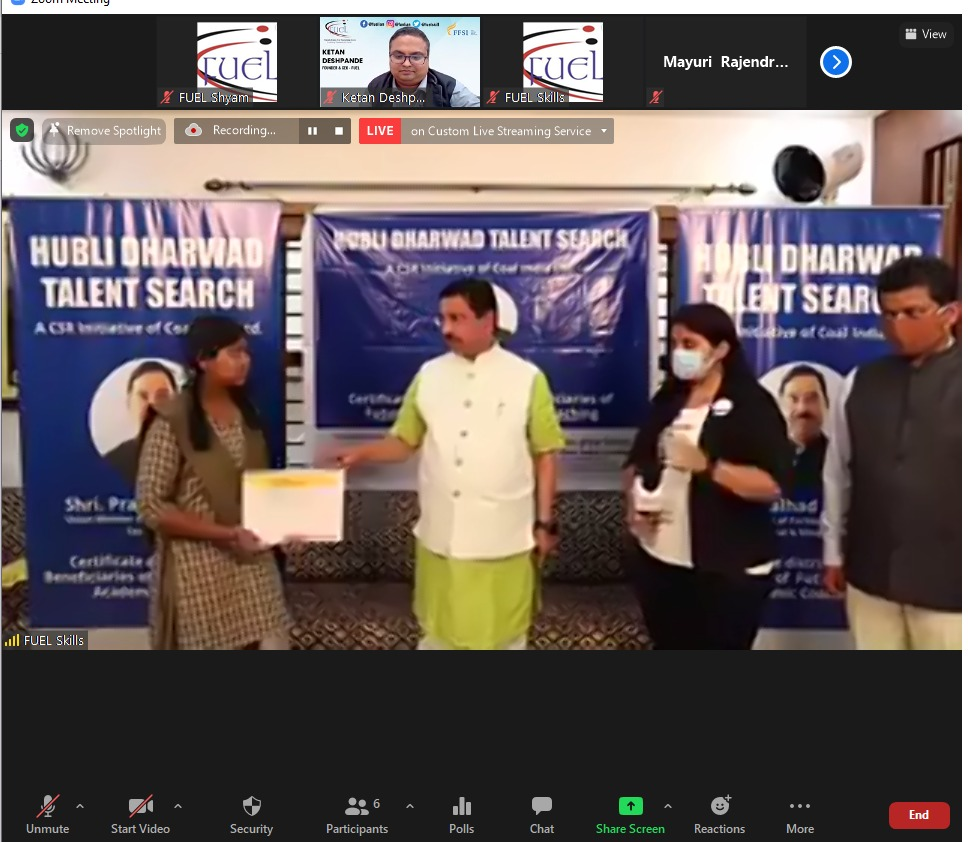 CSR of Coal India: FUEL Trust provides Career Coaching & Future Skills to 200 students of Hubli, Dharwad - IndiaCSR